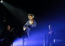 Beethoven 3D elettrico in primo luogo in Polonia che il concerto con gli effetti 3D ha eseguito dall'orchestra e dalle soliste di Fotografie Stock