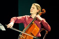 Beethoven Duo - Fedor Elesin and Alina Kabanova Stock Photos