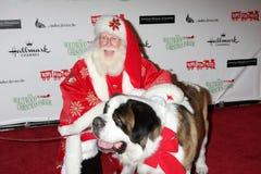 Beethoven komt bij de Parade van Kerstmis Hollywood van 2011 aan Stock Afbeeldingen