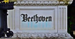 Beethoven` s graf Stock Foto's