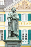 Beethoven Statue and Bonn Main Post Office Stock Photography