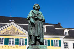 Beethoven zabytek w Bonn fotografia stock