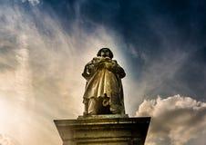 Beethoven zabytek w Bonn, Niemcy Ja odsłaniał na 12 1845 Sierpień zdjęcie royalty free