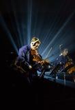 Beethovenelkraft 3D först till Polen som konserten med effekter 3D utförde vid orkesteren och solisterna av Filharmonia Futura Arkivfoton