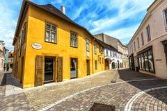 Beethovenhus Baden i den Baden beien Wein Arkivfoton