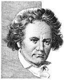 Beethovenludwig skåpbil fotografering för bildbyråer