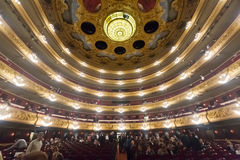 Beethovenoverleg in Gran Teatre del Liceu stock afbeelding