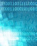 beetjes en bytes op een blauw stock illustratie
