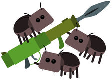 Beetle bazooka Royalty Free Stock Photo