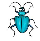 Beetle blue Royalty Free Stock Images
