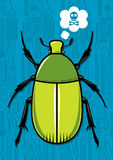 Beetle bug cartoon  Stock Photos