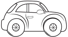 Beetle car coloring page Stock Photography