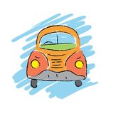 Beetle car, hand-drawn vector illustration Stock Photos