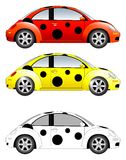 Beetle car vector illustration. Pokka dotted beetle car vector illustration royalty free illustration