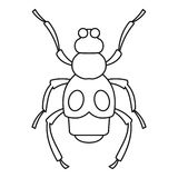 Beetle insect icon, outline style. Beetle insect icon. Outline illustration of beetle insect icon for web vector illustration