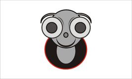 Beetle. This is a logo or template mouth cartoon often called in the designer`s , this photo is made by way trace of sketches that are already making first, this Stock Image