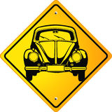 Beetle Oldtimer Sign Royalty Free Stock Photo