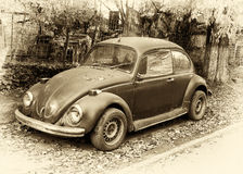 Beetle retro car. Picture with beetle retro car Royalty Free Stock Photography