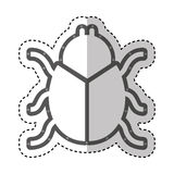 Beetle silhouette isolated icon Stock Photos