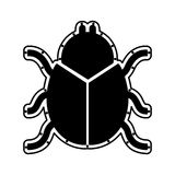 Beetle silhouette isolated icon Royalty Free Stock Photography