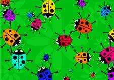 Beetle swarm Stock Photo