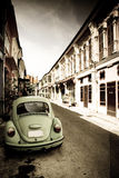 Beetle and town2 Royalty Free Stock Images