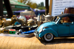 Beetle toy. Old beetle car toy for sale at a flea market Royalty Free Stock Images