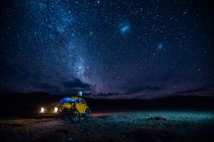 Beetle under the stars stock photography