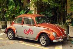 Beetle Volkswagen. Old automobile beatle volkswagen car from Germany Royalty Free Stock Images