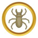 Beetle woodworm vector icon Stock Image