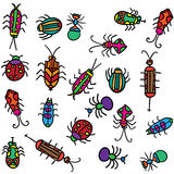 Beetles. vector doodle Royalty Free Stock Images