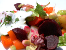 Beetroot And Potato Salad Royalty Free Stock Images
