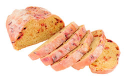 Beetroot Bloomer Bread Loaf. Fresh beetroot bloomer bread loaf isolated on a white background Stock Images