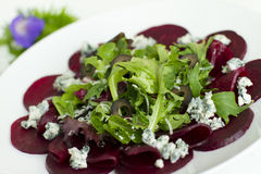 Beetroot carpaccio Royalty Free Stock Image