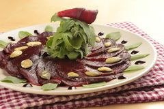 Beetroot carpaccio Royalty Free Stock Photos