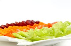 Beetroot, carrot, tomato, & Lettuce salad Stock Photo
