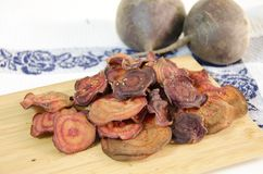 Beetroot chips Royalty Free Stock Photography