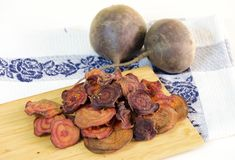 Beetroot chips Royalty Free Stock Image
