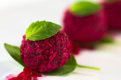Beetroot Coconut Ball Royalty Free Stock Images