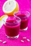 Beetroot cream soup Royalty Free Stock Image
