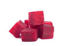 Beetroot cube slice Royalty Free Stock Image