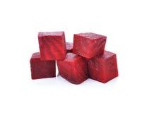 Beetroot cube slice Stock Photo