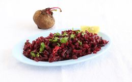 Beetroot Curry in a Plate Stock Photo