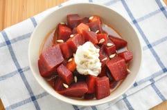 Beetroot Curry Salad Stock Photos