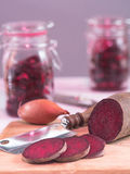 Beetroot, cut in discs Royalty Free Stock Photo
