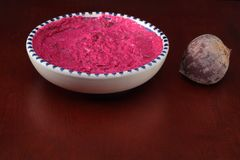 Beetroot dip Royalty Free Stock Photography