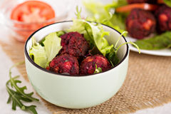 Beetroot falafel Royalty Free Stock Image