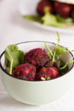 Beetroot falafel Royalty Free Stock Images
