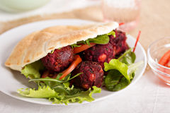 Beetroot falafel Royalty Free Stock Photography