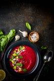 Beetroot gazpacho polewka Fotografia Stock